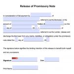 Promissory Note Release Form - Adobe PDF - Microsoft Word
