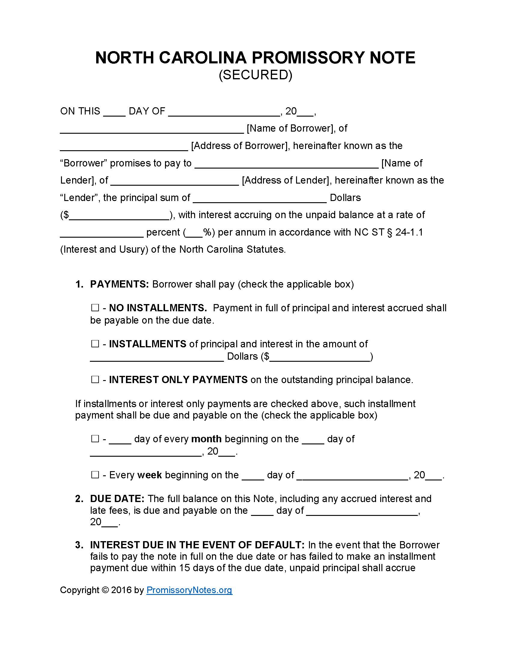 simple promissory note forms