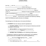 New York Unsecured Promissory Note Template