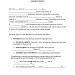 South Dakota Unsecured Promissory Note Template